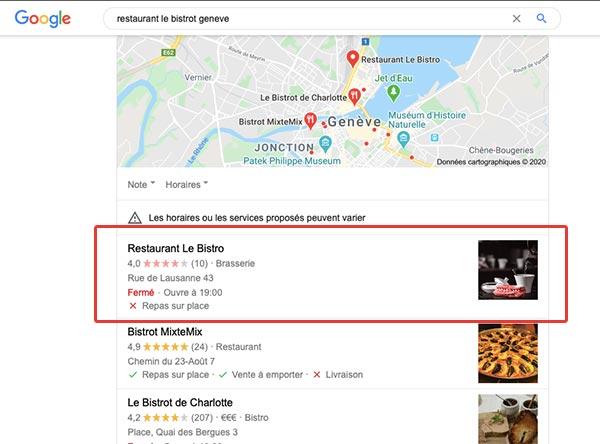 Référencement local avec Google My Business